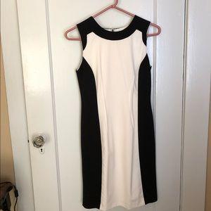 Calvin Klein Classic Black & White Sheath Dress 2